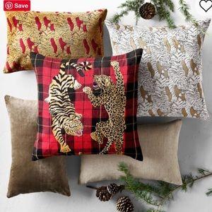 NWT Leopard Velvet Jacquard Pillow Cover